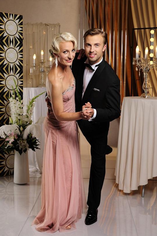 Anna Polívková se svým tanečním partnerem Michalem Krutišem