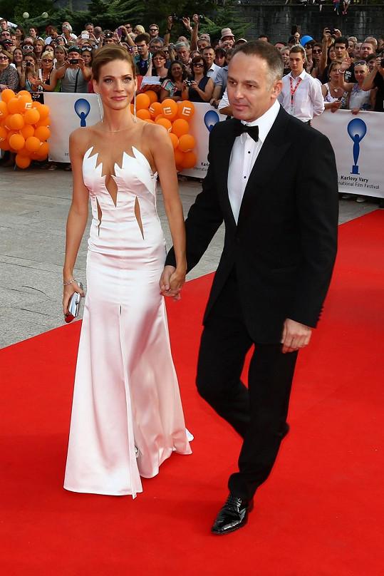 Andrea Verešová s manželem