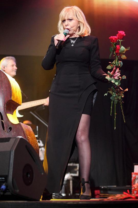 Hana Zagorová si koncert v Lucerně užívala na plné pecky.