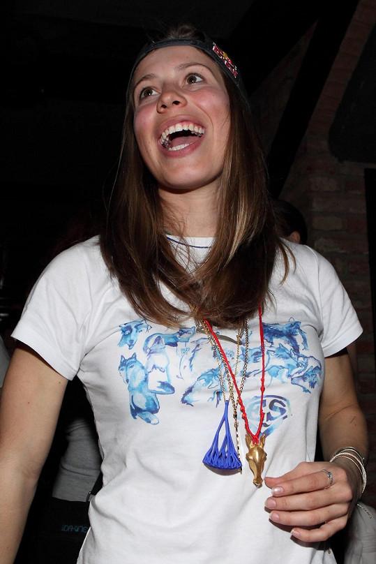 Eva si párty na oslavu své olympijské medaile užila.