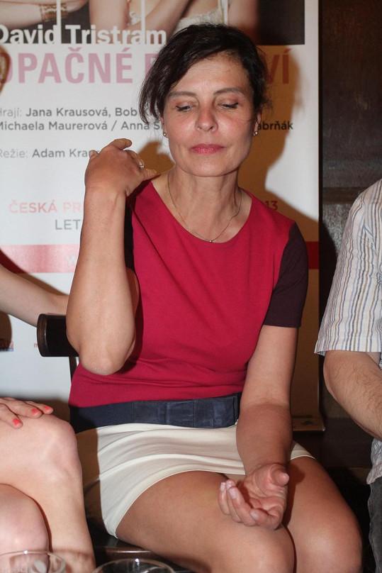 Jana Krausová vyrazila na tiskovou konferenci Studia DVA v mini.
