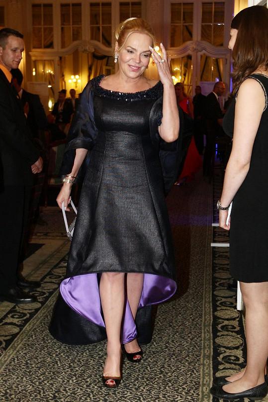 Dagmar Havlová na párty v hotelu Pupp.