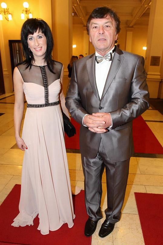 Pavel Trávníček s přítelkyní Monikou Fialkovou před operací.
