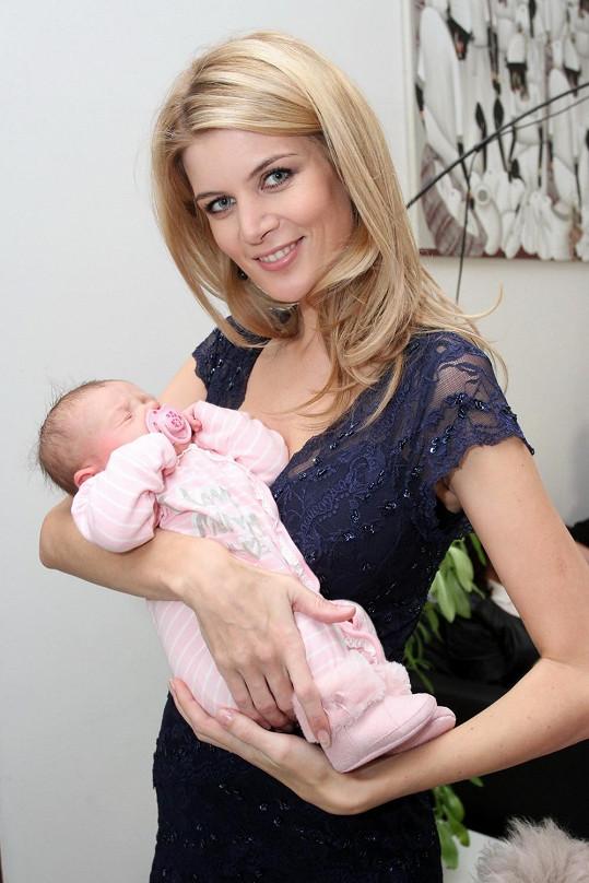 Iveta Vítová s sebou měla dceru Anetku.