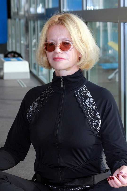 Jitka Asterová cvičí zásadně v těchto brýlích.