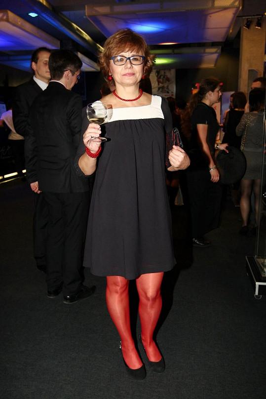 Ivana na párty po premiéře muzikálu Lucie