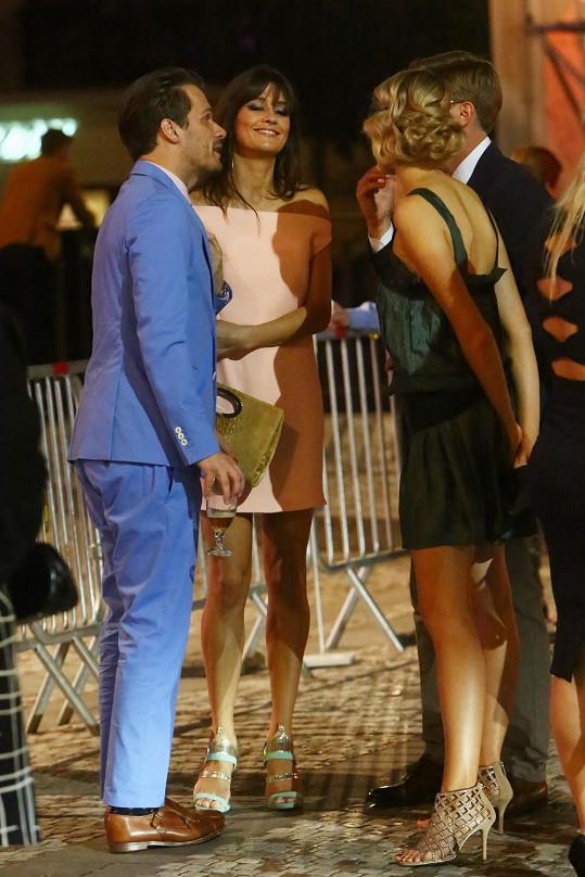 Večer trávili s Tomášem Topolánkem a jeho přítelkyní Simonou Dvořákovou.