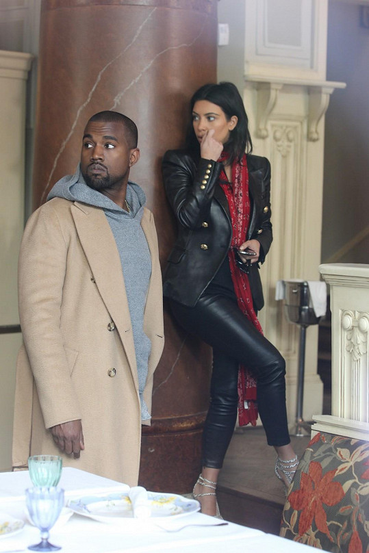 Kim a Kanye navštívili Prahu...