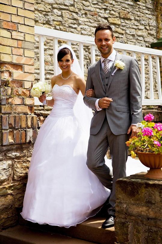S manželkou Eliškou, kterou si vzal loni v létě.