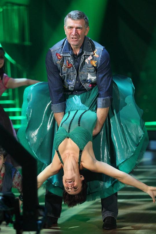 Imrich Bugár s tanečnicí Jitkou Šorfovou
