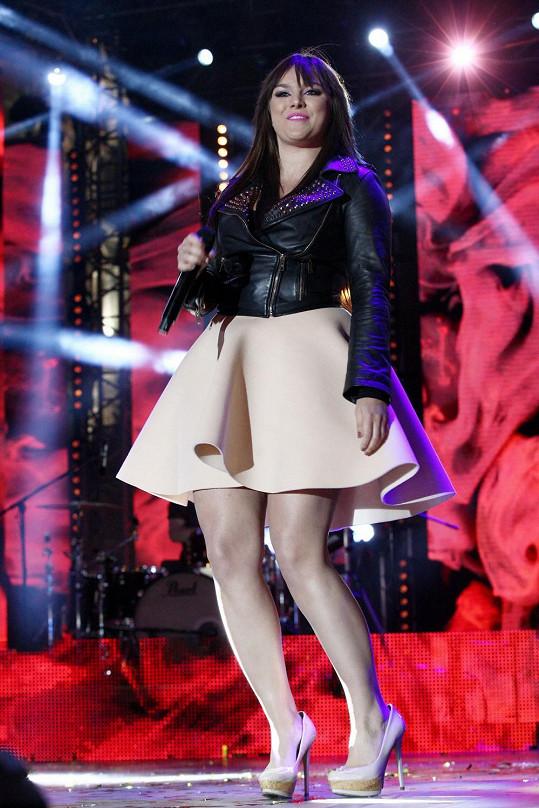 Ewa Farna na koncertu na Václavském náměstí