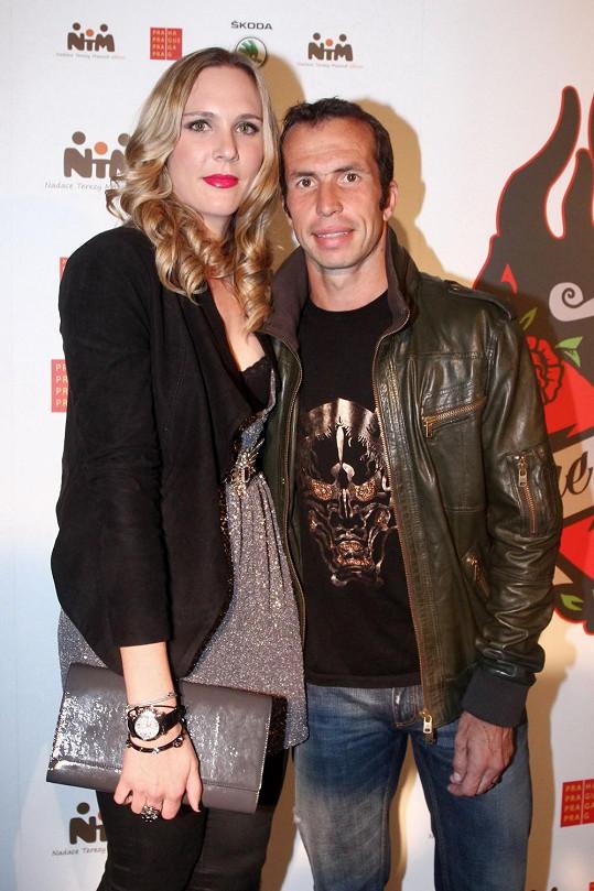 Vaidišová s manželem Radkem Štěpánkem