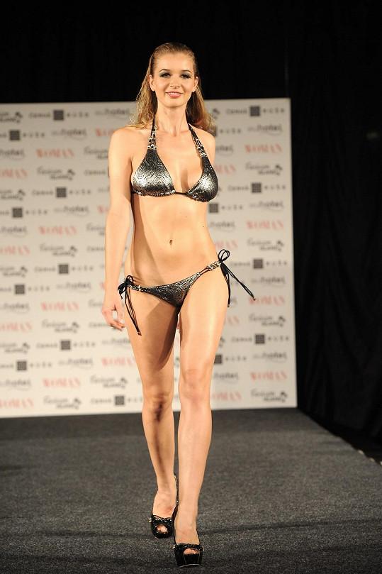 Tyto plavky měly takový střih, v němž vnady České Miss tolik nevynikly.