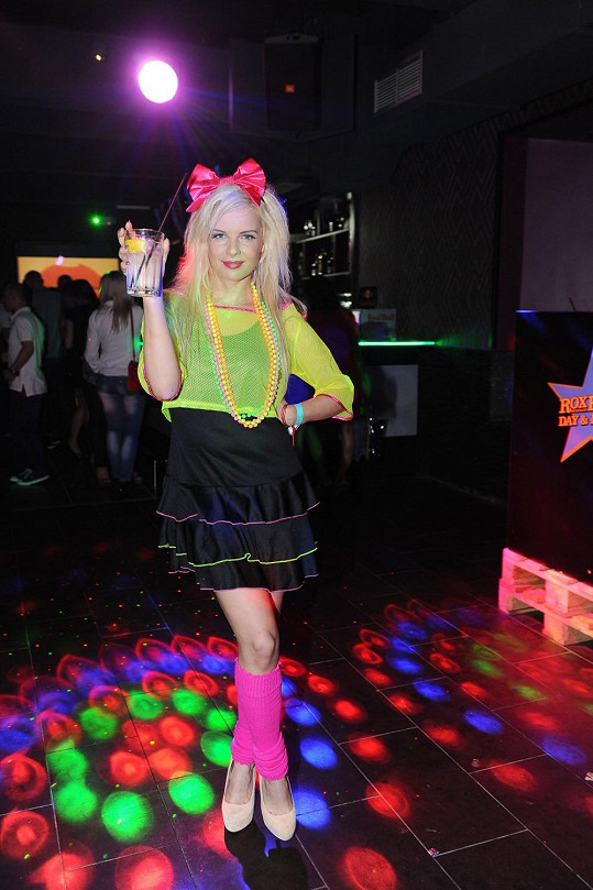 Kateřina Kristelová se na párty 80. let inspirovala Madonnou.