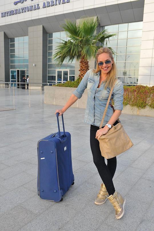 Taťána Kuchařová přiletěla brzy ráno do egyptské Hurghady.