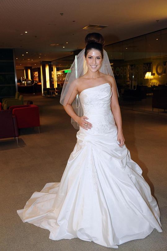 Victoria byla za nevěstu jen na akci svatebního veletrhu.