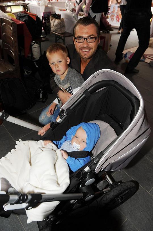 Bořek se svými syny Koljou a Andrejem