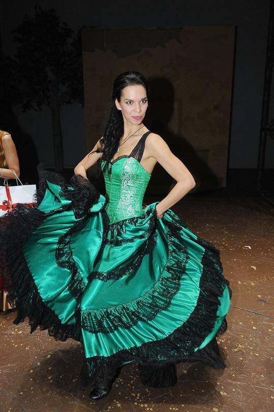 Radka při tanci flamenca