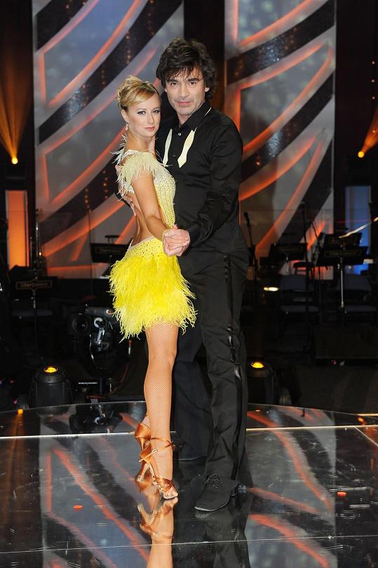 Pavel Řezníček tančí s životní partnerkou Honzy Ondera.