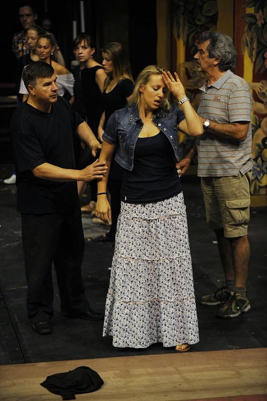 Tereza Mátlová na zkoušce v GoJa Music Hall
