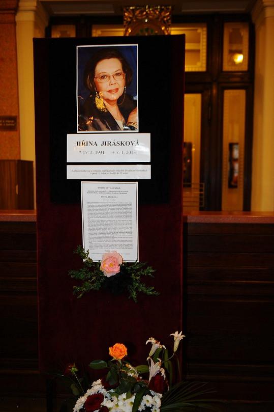 Vzpomínka na Jiřinu Jiráskovou.