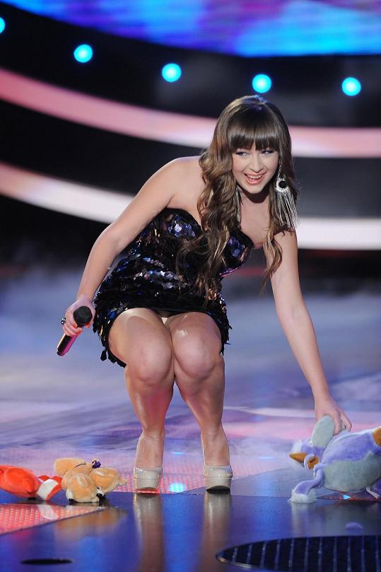 Kristína Debnárová ukázala nechtěně kalhotky.