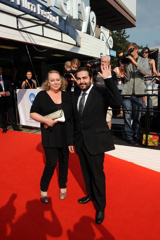 Gábina Osvaldová s partnerem.