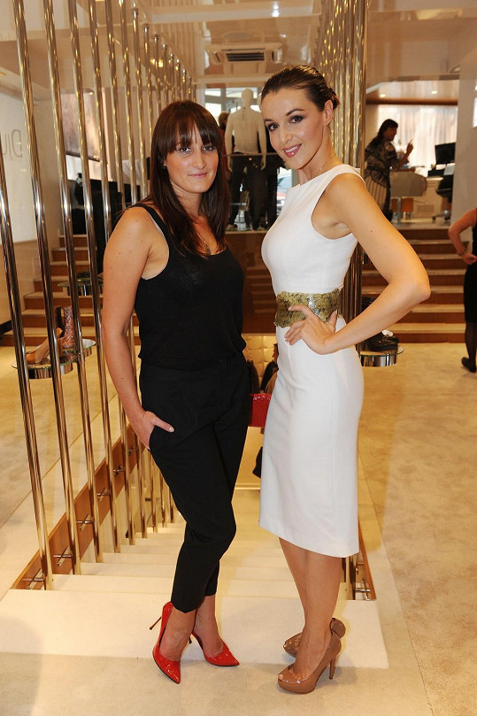 Iva s návrhářkou Dominikou Sedláčkovou