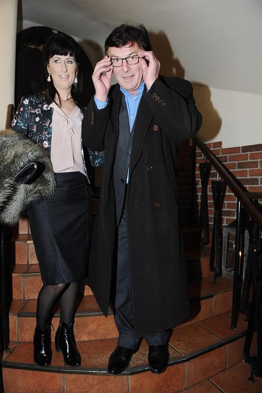Pavel Trávníček s přítelkyní Monikou Fialkovou