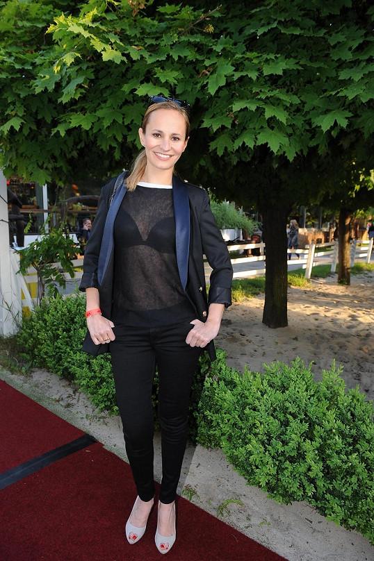 Monika Absolonová se předvedla v průhledném topu.