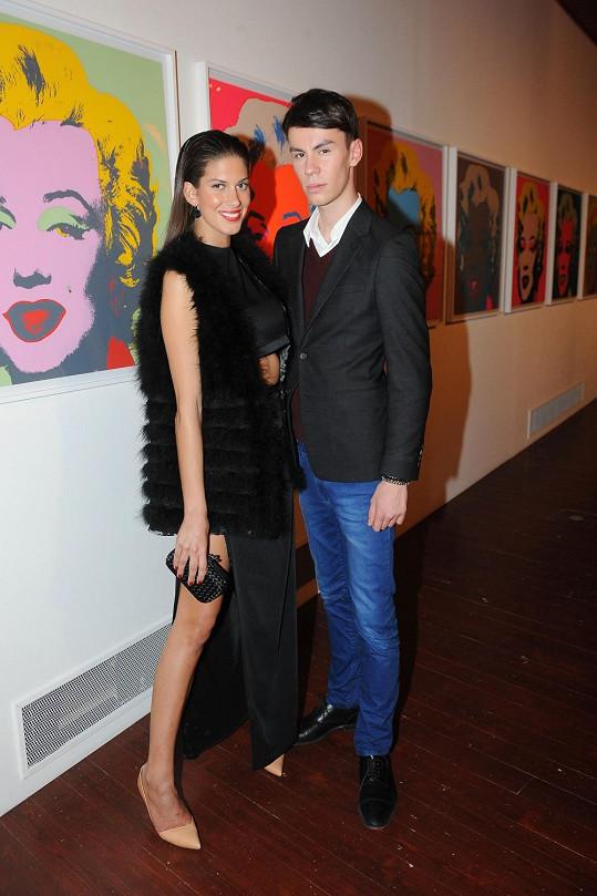 Na párty dorazila i Aneta Vignerová s kamarádem Tomášem Novákem.