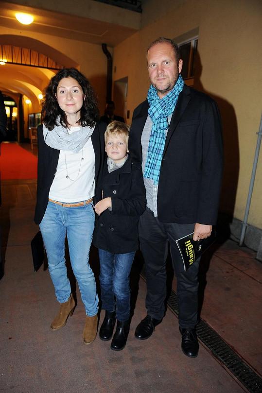 Martha s Davidem Ondříčkem a jeho synem z prvního manželství