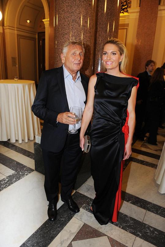 Jiří Menzel s manželkou Olgou