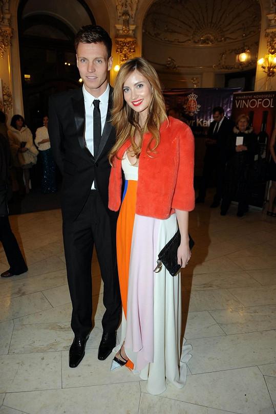Tomáš Berdych s manželkou Ester