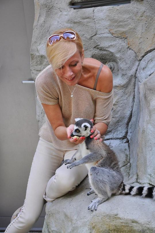 Renata v olomoucké zoo o víkendu křtila ve velkém...