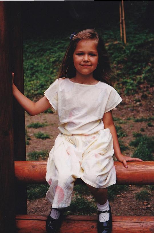 Lucie Kovandová, když jí bylo pět let.