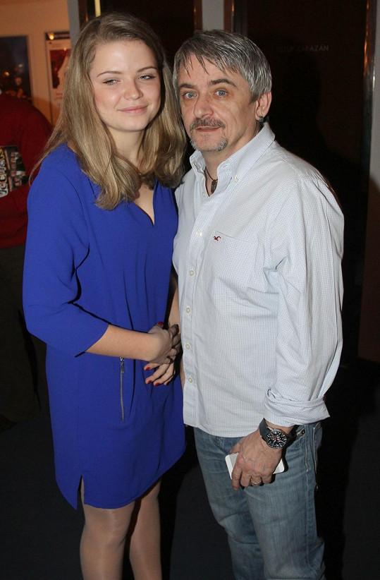 Michal Suchánek s dcerou Berenikou.