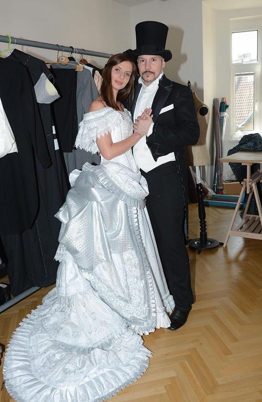 S kolegou Bohušem Matušem, jenž bude hrát jejího milence Raoula.
