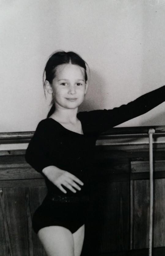 Klára Doležalová jako malá baletka