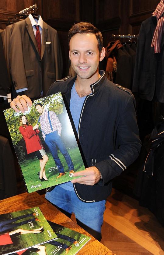 Michael se stal kmotrem charitativního kalendáře pro nadační fond Petra Koukala.