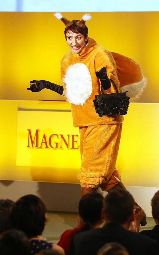 Babčáková se během přímého přenosu oblékla do vtipného převleku.