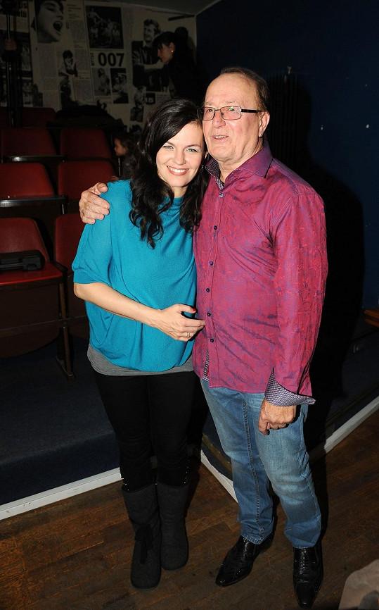 Marta s tátou Petrem Jandou