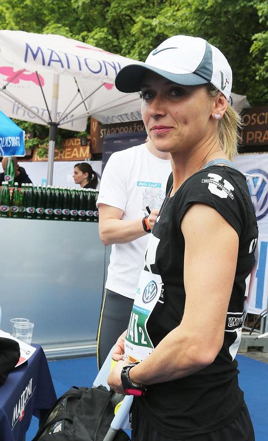 Zaběhat si přišla i Eva Šebrlová.