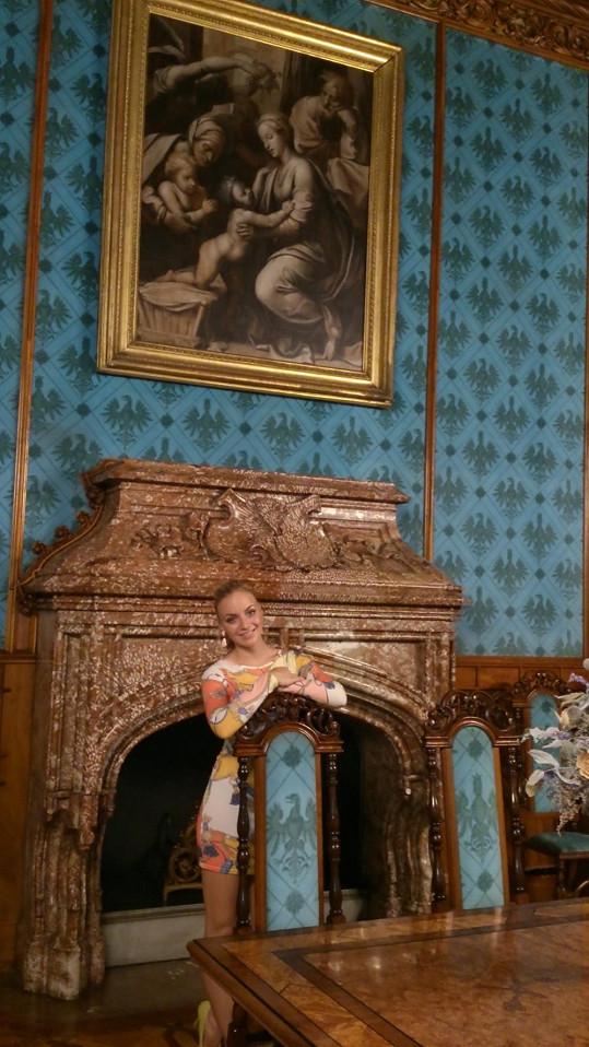 Konvičková se dočkala soukromé prohlídky zámku.