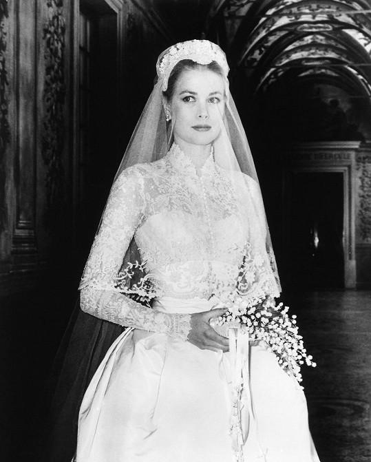 Grace Kelly byla jako nevěsta okouzlující. S manželstvím skončila i její filmová kariéra.