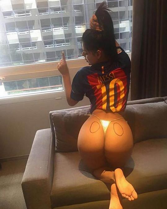 Suzy Cortez jinak fandí Barceloně a zbožňuje Messiho.