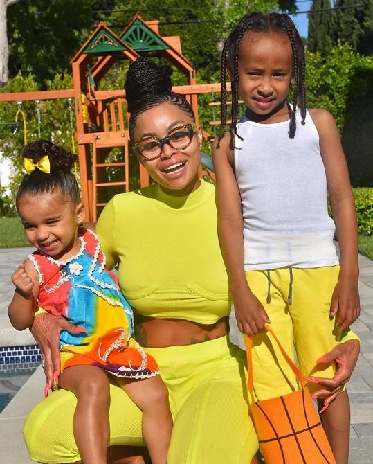 Blac Chyna s dětmi Dream a Kingem