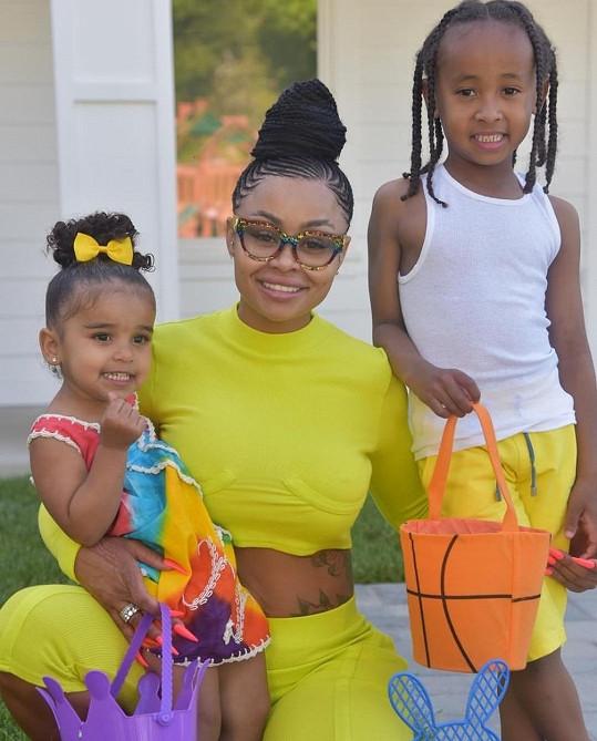Blac Chyna s dcerou Dream a synem Kingem