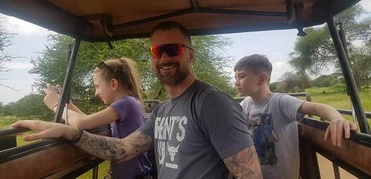 S dětmi vyjeli i na safari