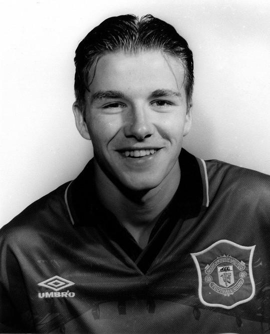 David Beckham jako mladíček v roce 1997